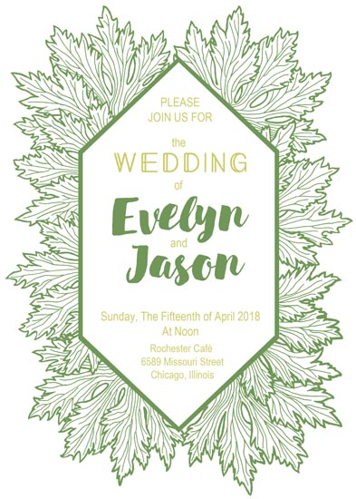 wedding invitations - Summer Garden by NelliK