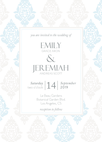 wedding invitations - Dainty Damask by Linda van Rensburg