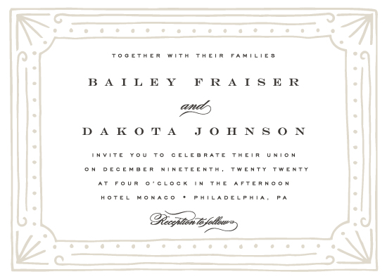 wedding invitations - Hand Drawn Deco by Everett Paper Goods