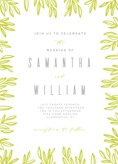 wedding invitations - Fresh and bright by Ilze Lucero