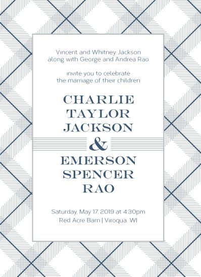 wedding invitations - Classy Plaid by Amy Cesal