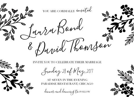wedding invitations - Rustic leaves by Deyas Paper co.