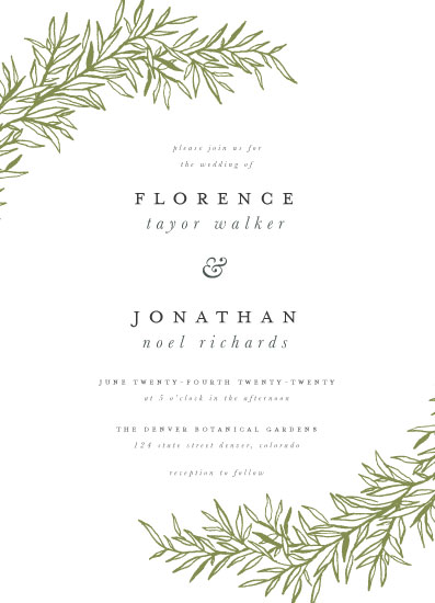 wedding invitations - Delicate Vines by Grace Kreinbrink