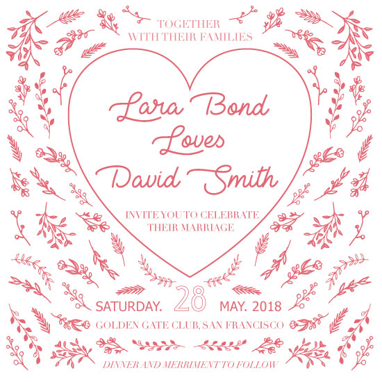 wedding invitations - Love heart letterpress by Deyas Paper co.