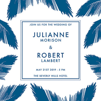 wedding invitations - PALM BEACH by Agata Wojakowska