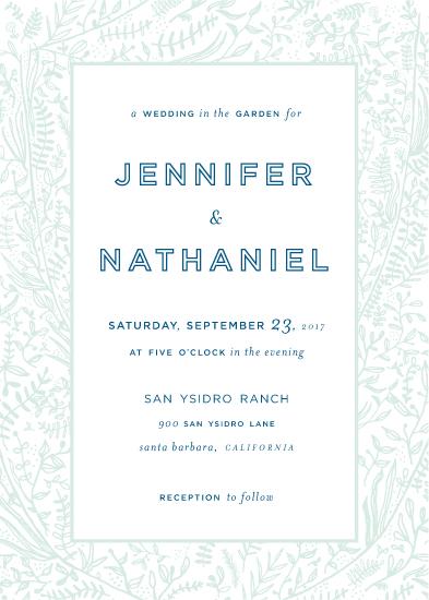 wedding invitations - Foliage Garden by Nibby Press