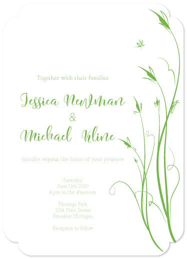 wedding invitations - Field of Flowers by Theresa Dryer
