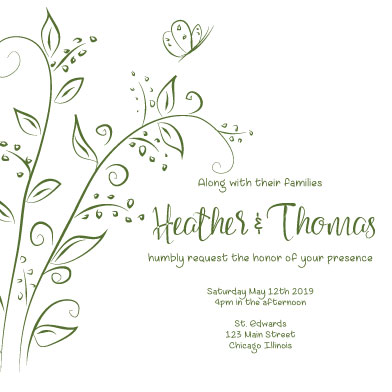 wedding invitations - Sweet Peas by Theresa Dryer