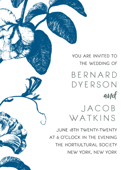 wedding invitations - floral noir by leggs and foster
