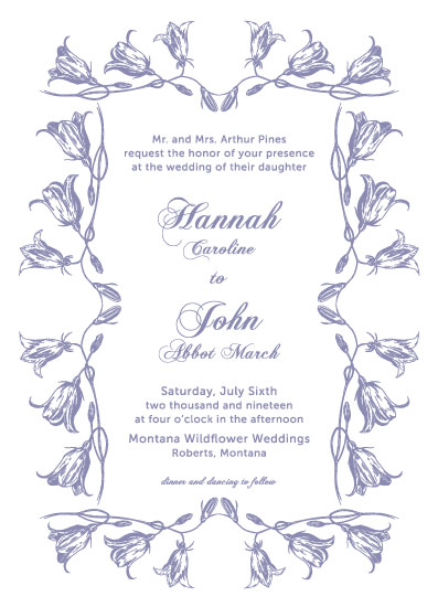 wedding invitations - Harebell Flowers by Madrona Press