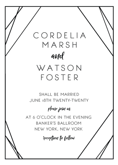wedding invitations - Onyx by leggs and foster