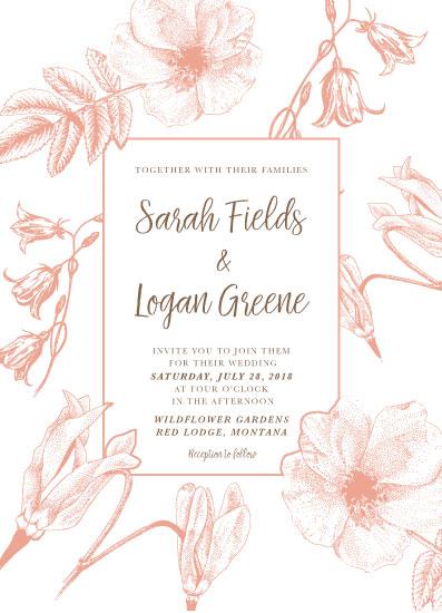 wedding invitations - Wildflowers by Madrona Press