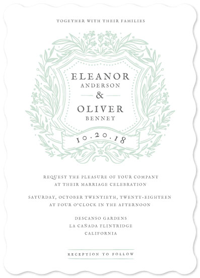 wedding invitations - Wildflower Crest by kukkiilabs