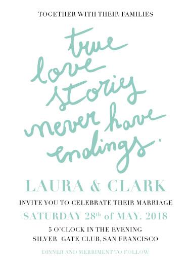wedding invitations - True love by Deyas Paper co.