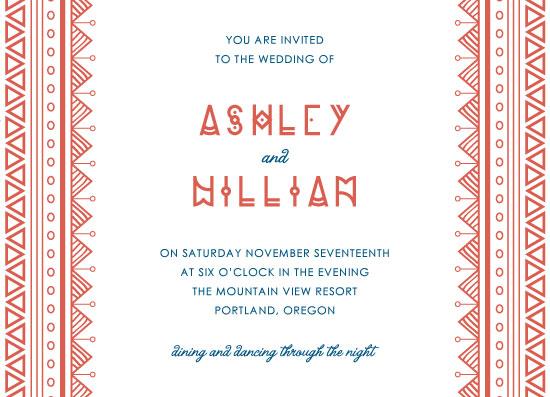 wedding invitations - Tribal Bohemian Pattern by Kann Orasie