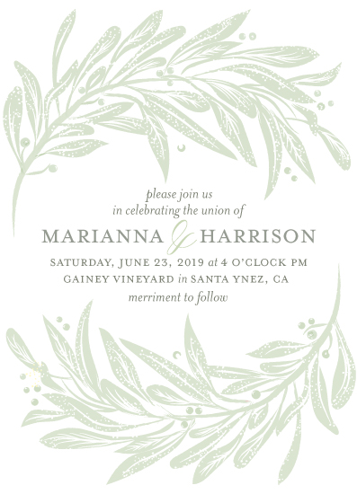 wedding invitations - arching laurels by shoshin studio