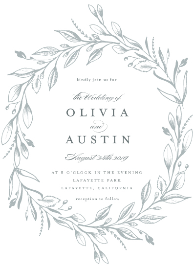 wedding invitations - Verdure Couronne by Susan Moyal