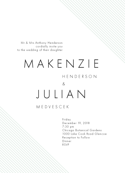 wedding invitations - Lines by Elky Ink