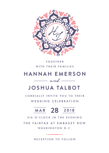 wedding invitations - Mandala Monogram by Griffinbell Paper Co.