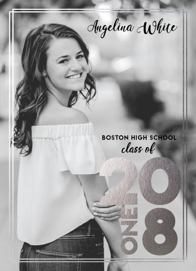 graduation announcements - Black & White by Melina Franco