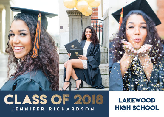 graduation announcements - Bold and Gold by Michayla Pearson