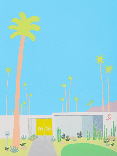 art prints - Yellow Door Palm Springs by JD
