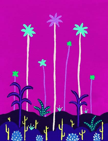 art prints - Palms & Cacti II by JD