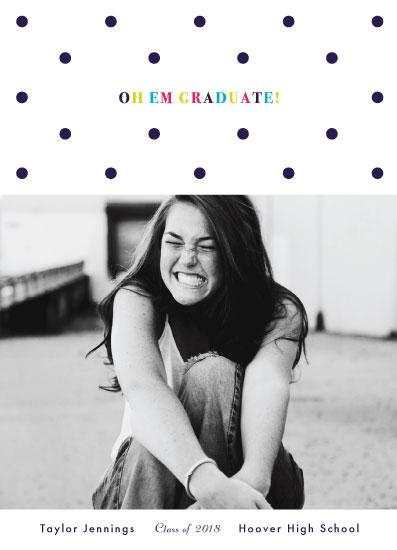 graduation announcements - OH EM GRADUATE! by Mayflower Press