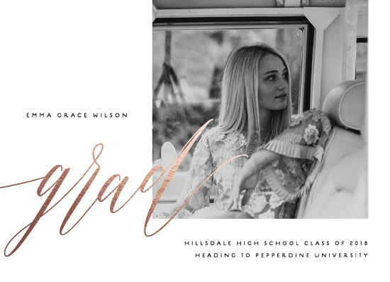 graduation announcements - Scripted by Olivia Raufman