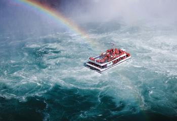 Rainbow and the ferry