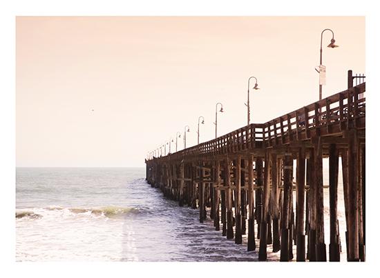 art prints - By the Wooden Pier by Kathy Par