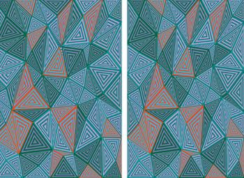 Abstract Triangles Diptych