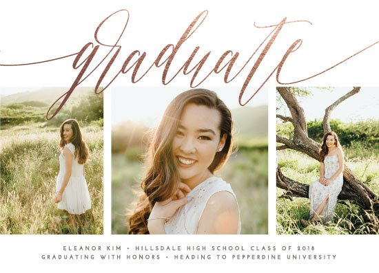 graduation announcements - Classic Beauty by Olivia Raufman