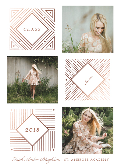 graduation announcements - Classy Shine by Katie Zimpel