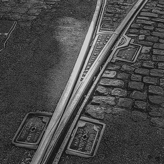 art prints - Tram tracks by Lu Haddad