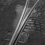 Tram tracks by Lu Haddad