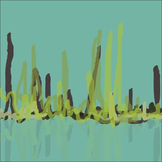 art prints - Scribbly Reeds by Vani Gupta