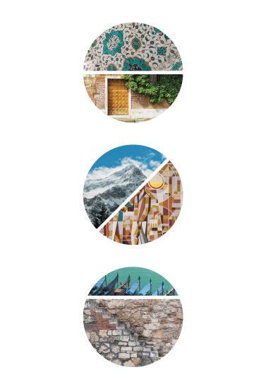 art prints - Euro Trip-tych by Julia Tincombe