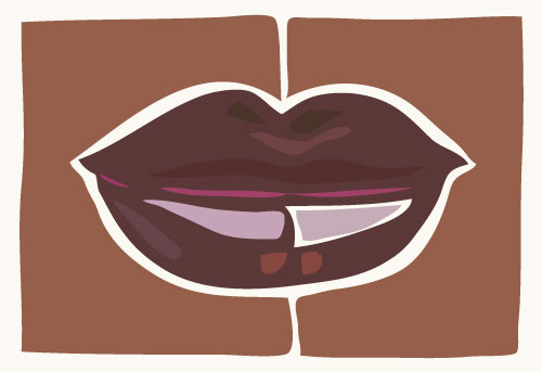 art prints - Lipscape2 by Kate Cawood