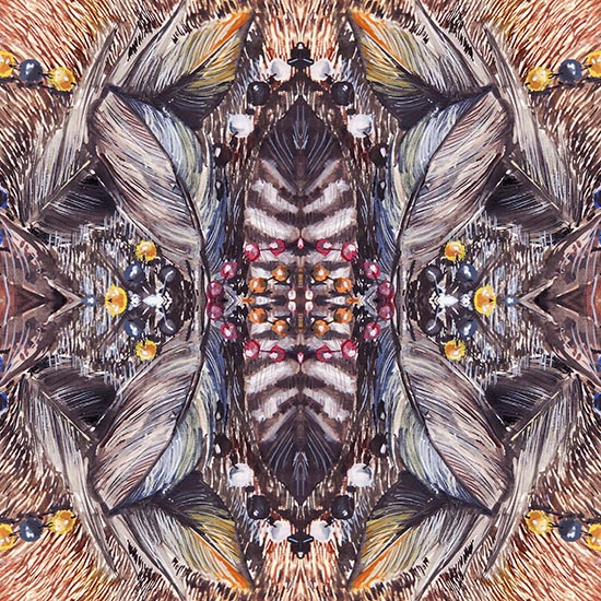 art prints - Feather dreamcatcher by Teo designs