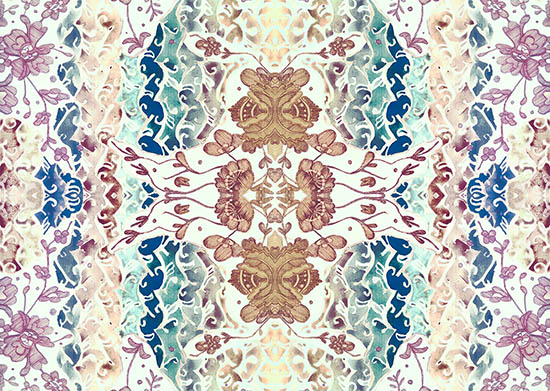 art prints - Delicate pastel lace by Teo