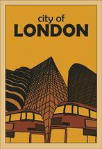 City of London retro po... by de Villiers Home Art