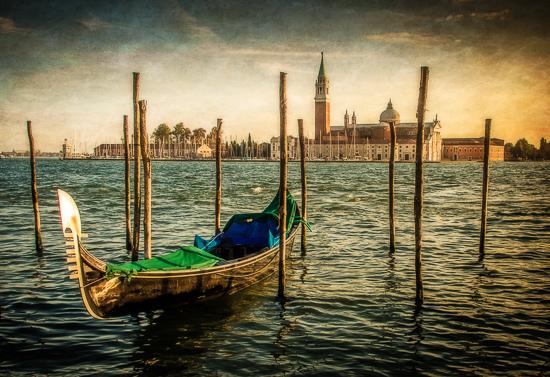 art prints - Lone Gondola at Golden Hour by Steve Burkett