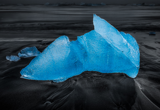 art prints - Beached Blue Berg by Steve Burkett