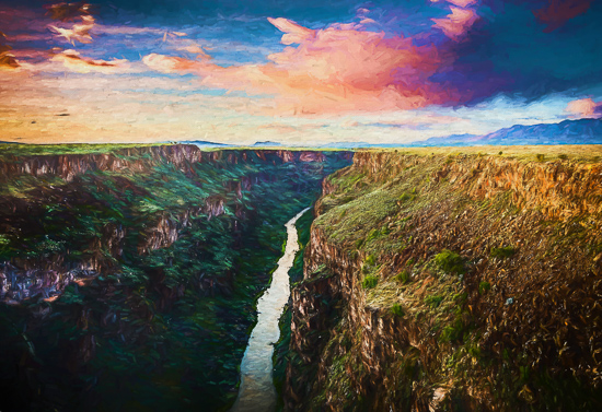 art prints - Rio Grande Gorge at Sunset by Steve Burkett