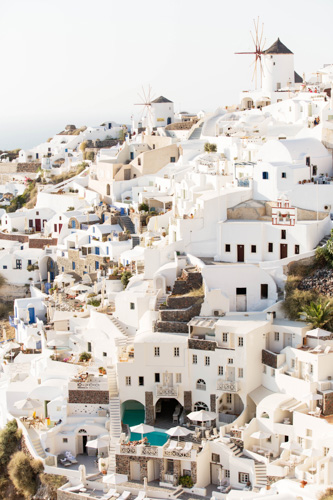 art prints - Oia Town by Anna Argiropoulos