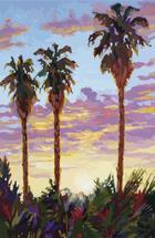 Backyard Palms by James Davis