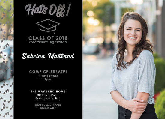 graduation announcements - Hats Off! by Arianne Colella