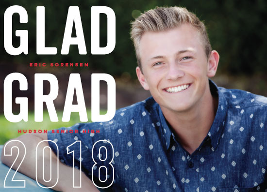 graduation announcements - Real Glad by Susan Brown