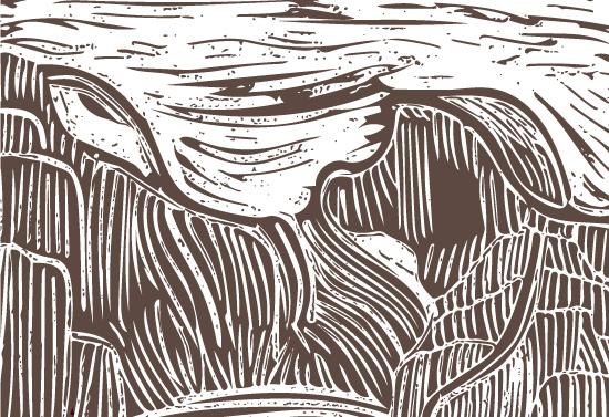 art prints - Yosemite Linocut #1 by Salt and Light